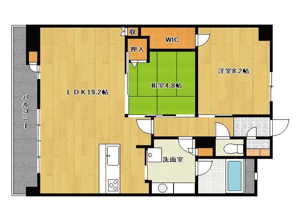 ユニハイム南草津(10階)の間取り図