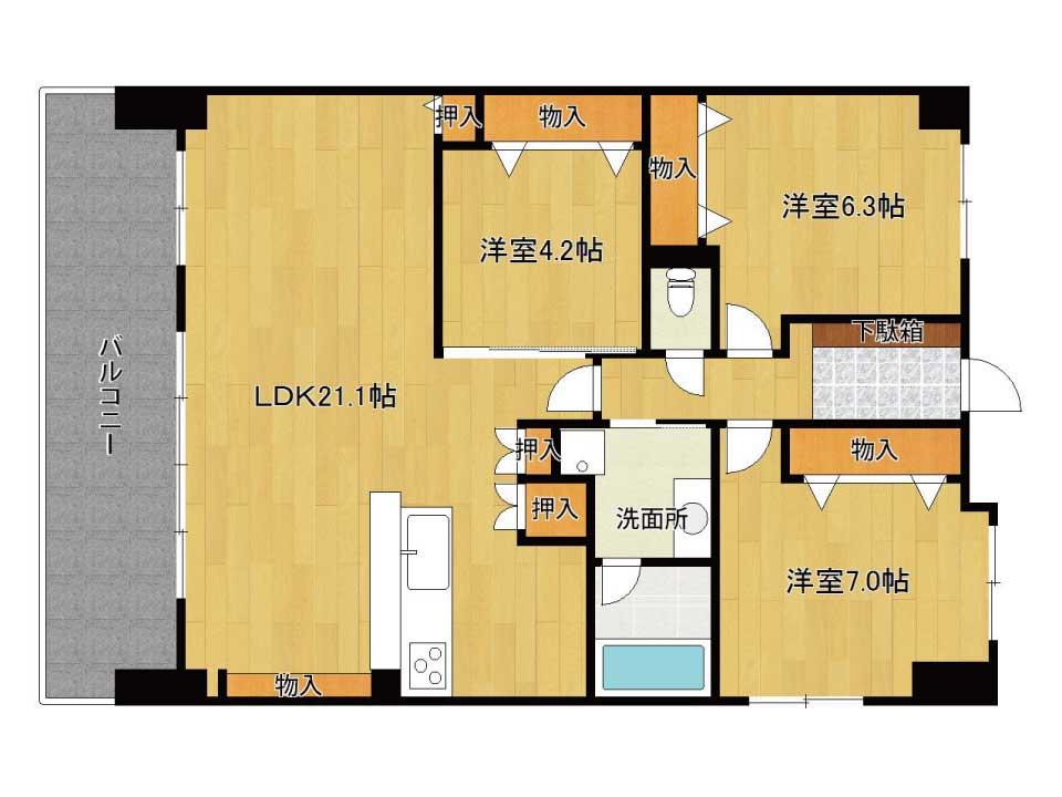 プレサンスロジェ南草津(10階)の間取り図