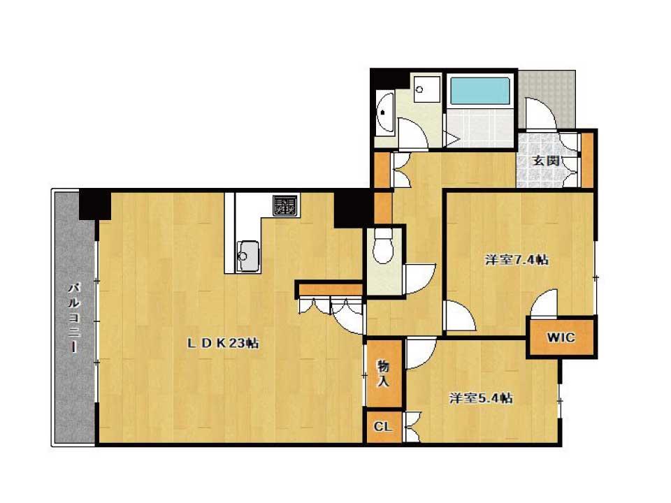 ザ・草津タワー(28階)の間取り図