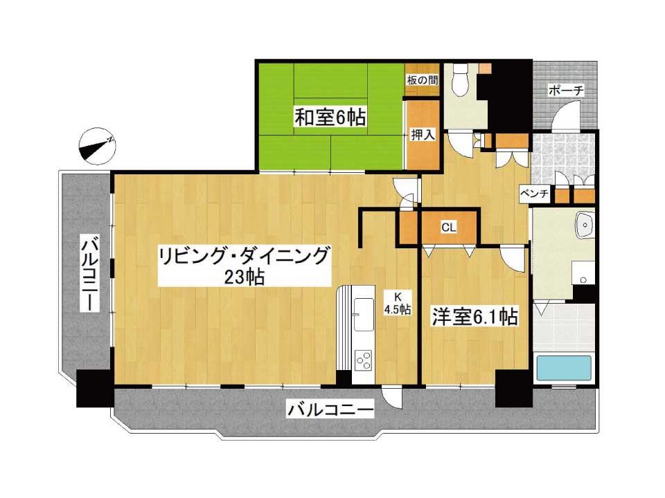 アメニティ南草津2(4階)の間取り図
